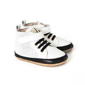 White Hi-Top Baby Shoes